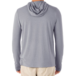 Free Fly Men's Bamboo Crossover Hoody-MCO_Heather Slate Blue
