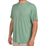 Free Fly Men's Bamboo Lightweight Drifter Tee-LWSS_Spartina Green
