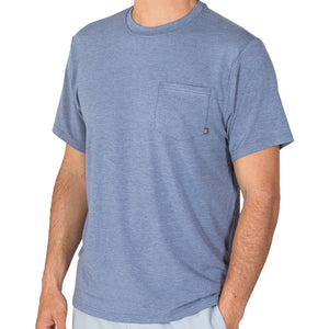Free Fly Men's Bamboo Flex Pocket Tee-MFT_Heather Denim