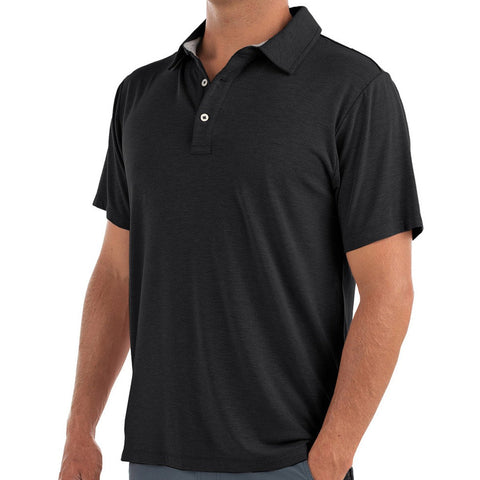 Free Fly Men's Bamboo Flex Polo-MBP_Heather Black