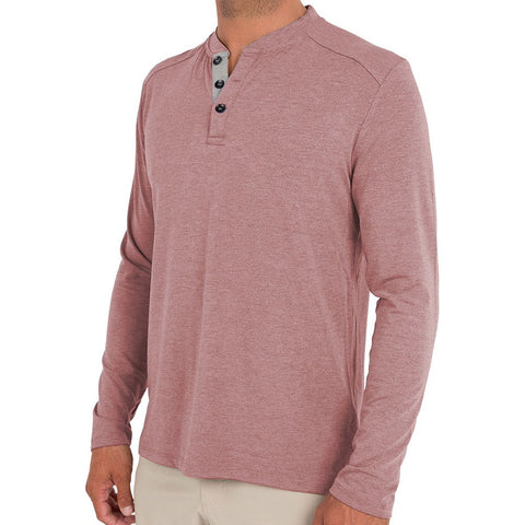 Men's Bamboo Flex Henley-Free Fly-Heather Black-S-Uncle Dan's, Rock/Creek, and Gearhead Outfitters