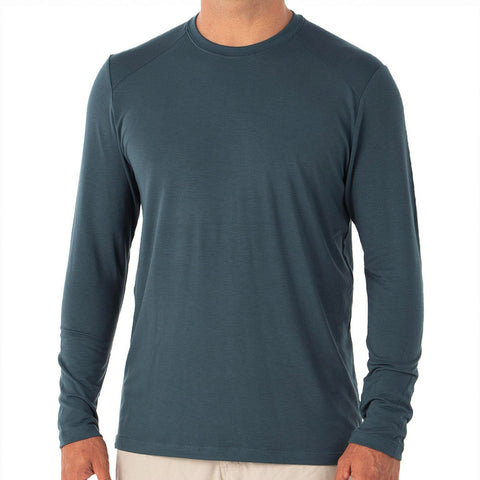Men's Bamboo Midweight Long Sleeve-Free Fly-Charcoal-S-Uncle Dan's, Rock/Creek, and Gearhead Outfitters