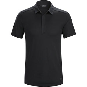 Men's A2B Short Sleeve Polo Shirt-Arc'teryx-Black-L-Uncle Dan's, Rock/Creek, and Gearhead Outfitters