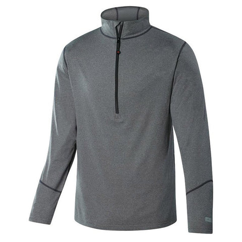 Men's Thermolator Half Zip Top-Terramar-Grey Heather-S-Uncle Dan's, Rock/Creek, and Gearhead Outfitters