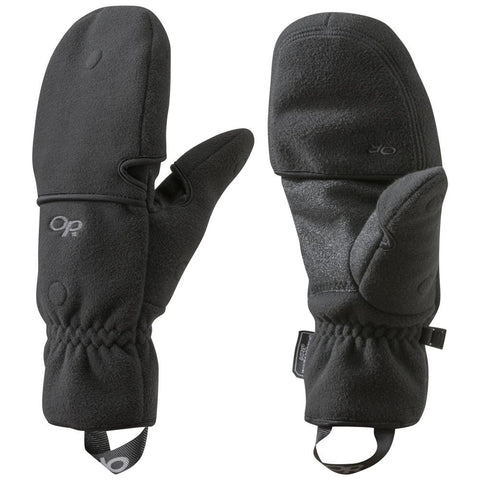 Men's Gripper Convertible Gloves-Outdoor Research-Black-M-Uncle Dan's, Rock/Creek, and Gearhead Outfitters