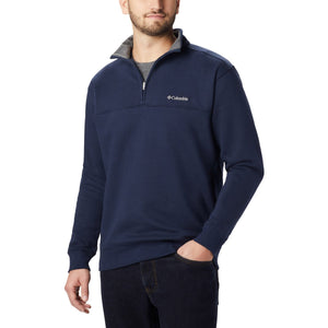 Men's Hart Mountain II Half Zip-Columbia-Carbon Heather-L-Uncle Dan's, Rock/Creek, and Gearhead Outfitters