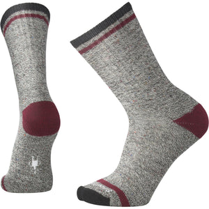 Men's Larimer Crew Socks-Smartwool-Charcoal Heather Tibetan Red Heather-XL-Uncle Dan's, Rock/Creek, and Gearhead Outfitters