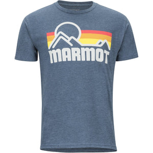 Men's Marmot Coastal Tee Short Sleeve Shirt-Marmot-Navy Heather-L-Uncle Dan's, Rock/Creek, and Gearhead Outfitters
