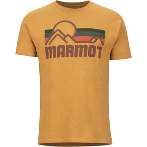 Men's Marmot Coastal Tee Short Sleeve Shirt-Marmot-New Aztec Gold Heather-L-Uncle Dan's, Rock/Creek, and Gearhead Outfitters