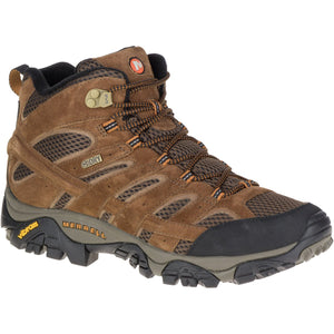 Men's Moab 2 Mid Waterproof-Merrell-Earth-10-Uncle Dan's, Rock/Creek, and Gearhead Outfitters