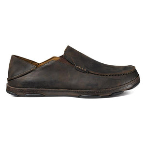 Men's Moloa Slip-On Shoe-OluKai-Dark Wood Dark Java-9-Uncle Dan's, Rock/Creek, and Gearhead Outfitters