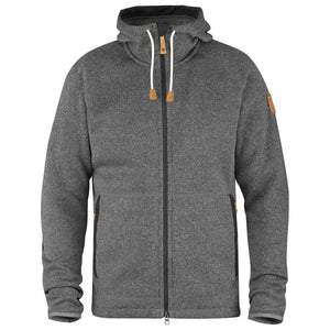 Men's Ovik Fleece Hoodie-Fjallraven-Dark Grey-L-Uncle Dan's, Rock/Creek, and Gearhead Outfitters