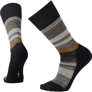 Men's Saturnsphere Socks-Smartwool-Black White-L-Uncle Dan's, Rock/Creek, and Gearhead Outfitters