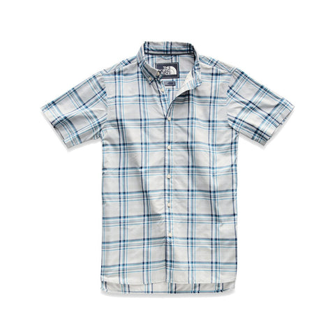 Men's Short-Sleeve Monanock Shirt-The North Face-High Rise Grey Brutus Plaid-S-Uncle Dan's, Rock/Creek, and Gearhead Outfitters