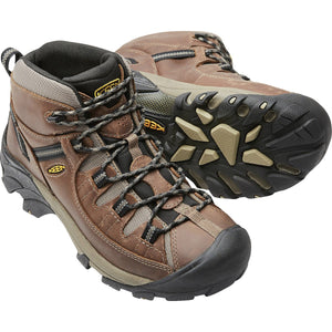 Men's Targhee II Waterproof Mid Hiking Boot-KEEN-Shitake Brindle-8-Uncle Dan's, Rock/Creek, and Gearhead Outfitters