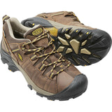 Men's Targhee II Waterproof Hiking Shoe-KEEN-Cascade Brown Golden Yellow-10-Uncle Dan's, Rock/Creek, and Gearhead Outfitters
