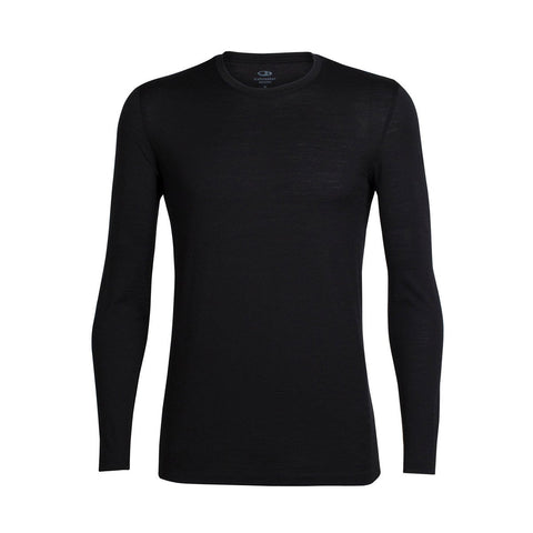 Men's Tech Lite Long Sleeve Crewe-Icebreaker-Black-M-Uncle Dan's, Rock/Creek, and Gearhead Outfitters