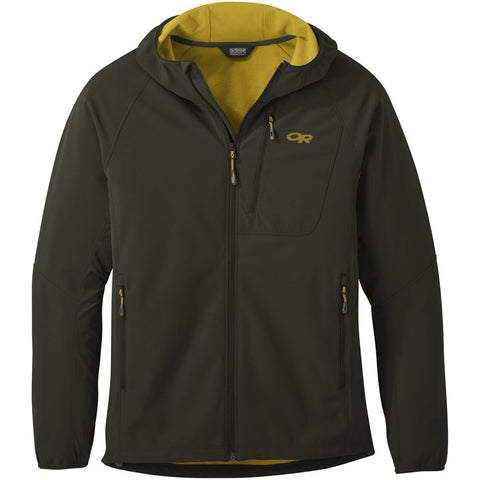 Men's Ferrosi Grid Hooded Jacket - Clearance-Outdoor Research-forest-S-Uncle Dan's, Rock/Creek, and Gearhead Outfitters