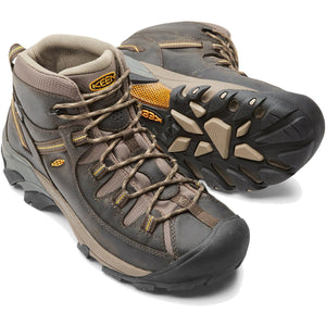Men's Targhee II Waterproof Mid Hiking Boot-KEEN-Black Olive Yellow-10-Uncle Dan's, Rock/Creek, and Gearhead Outfitters
