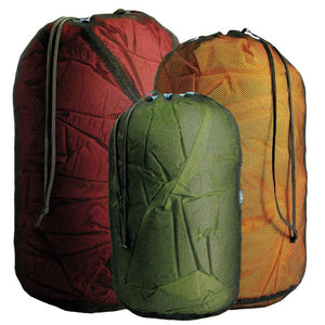 Mesh Stuff Sack 6.5L-Sea to Summit-Red-Uncle Dan's, Rock/Creek, and Gearhead Outfitters