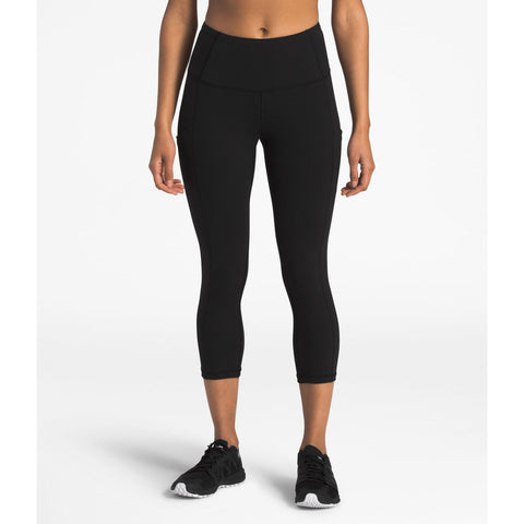 Women's MotIVation High Rise Pocket Crop - Clearance-The North Face-Root Brown-L-Regular-Uncle Dan's, Rock/Creek, and Gearhead Outfitters