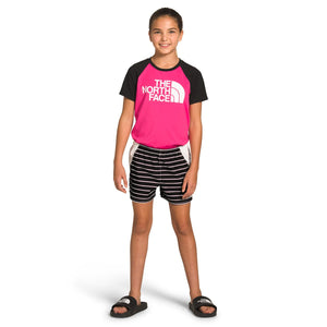 The North Face-girls-class-v-water-short-a3nih_TNF Black Stripe Print
