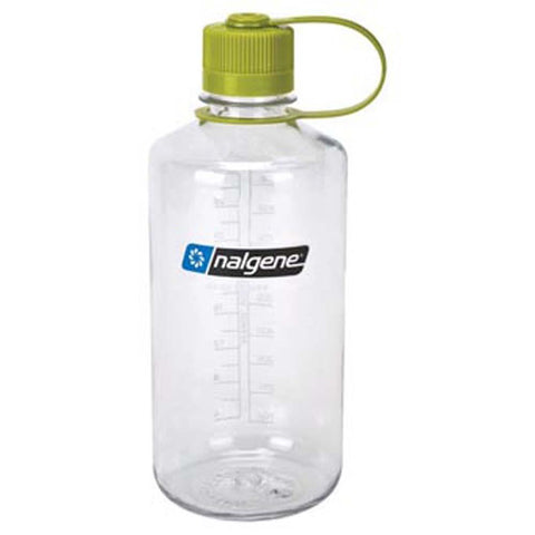 32 oz Everyday Narrow Mouth Bottle-Nalgene-Clear w/ Green Lid-Uncle Dan's, Rock/Creek, and Gearhead Outfitters