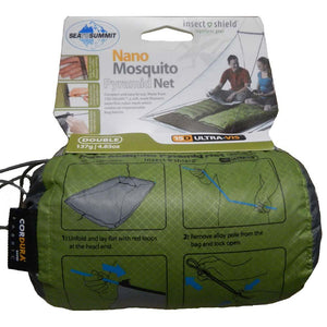Nano Mosquito Pyramid Net Shelter - Insect Shield-Double