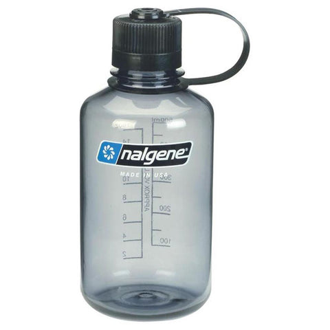 16 oz Narrow Mouth Bottle-Nalgene-Gray w/ Black Lid-Uncle Dan's, Rock/Creek, and Gearhead Outfitters