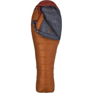 Never Summer 0F Sleeping Bag - Long-Marmot-Tangelo Auburn-LNG LEFT-Uncle Dan's, Rock/Creek, and Gearhead Outfitters