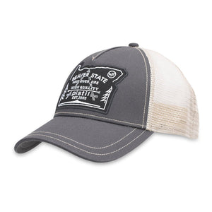 Oregon Trucker Hat-Pistil-Graphite-Uncle Dan's, Rock/Creek, and Gearhead Outfitters