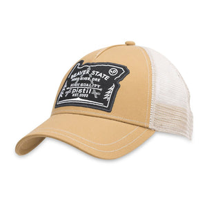 Oregon Trucker Hat-Pistil-Khaki-Uncle Dan's, Rock/Creek, and Gearhead Outfitters
