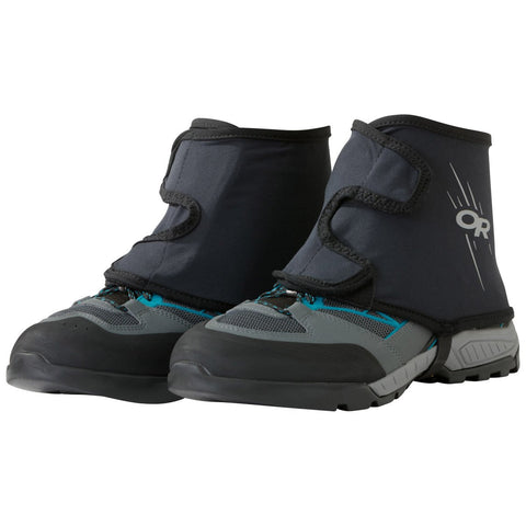 Overdrive Warp Gaiters-Outdoor Research-Black-S/M-Uncle Dan's, Rock/Creek, and Gearhead Outfitters