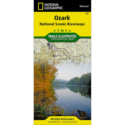 Ozark National Scenic Riverways Map-National Geographic Maps-Uncle Dan's, Rock/Creek, and Gearhead Outfitters