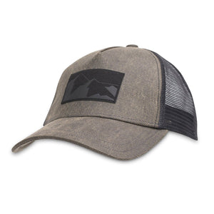 Peak Trucker Hat-Pistil-Black-Uncle Dan's, Rock/Creek, and Gearhead Outfitters