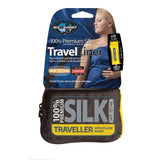 Premium Silk Travel Liner - Traveller With Pillow Insert-Sea to Summit-Navy Blue-Uncle Dan's, Rock/Creek, and Gearhead Outfitters