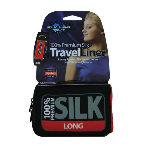 Premium Silk Travel Liner - Long Rectangular-Sea to Summit-Navy Blue-Uncle Dan's, Rock/Creek, and Gearhead Outfitters