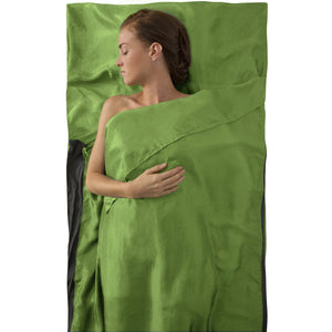Premium Silk Travel Liner - Traveller With Pillow Insert-Sea to Summit-Green-Uncle Dan's, Rock/Creek, and Gearhead Outfitters