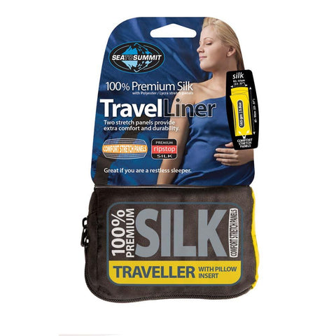 Premium Silk Travel Liner - Traveller With Pillow Insert