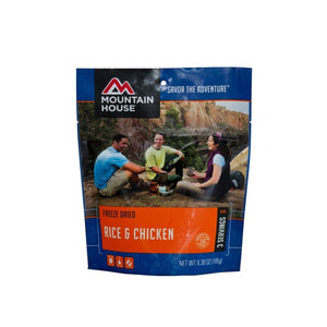 Rice And Chicken-Mountain House-Uncle Dan's, Rock/Creek, and Gearhead Outfitters
