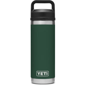 Rambler 18 oz Bottle with Chug Cap-Yeti-Northwoods Green-Uncle Dan's, Rock/Creek, and Gearhead Outfitters