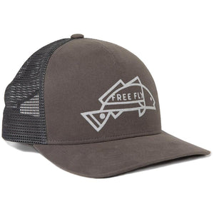 Redfish Snapback Hat-Free Fly-Charcoal-Uncle Dan's, Rock/Creek, and Gearhead Outfitters