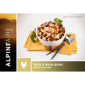 Rice And Beans Bowl With Chicken-AlpineAire-Uncle Dan's, Rock/Creek, and Gearhead Outfitters