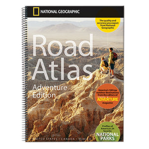 Road Atlas, Adventure Edition-National Geographic Maps-Uncle Dan's, Rock/Creek, and Gearhead Outfitters