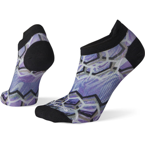 Women's PhD Run Ultra Light Hex Print Micro Socks-Smartwool-Bright Coral-S-Uncle Dan's, Rock/Creek, and Gearhead Outfitters