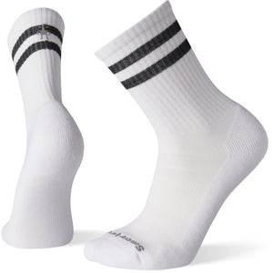 Athletic Light Elite Stripe Crew-Smartwool-White-Black-S-Uncle Dan's, Rock/Creek, and Gearhead Outfitters