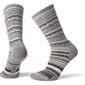 Women's Ethno Graphic Crew Socks-Smartwool-Light Gray-Black-M-Uncle Dan's, Rock/Creek, and Gearhead Outfitters