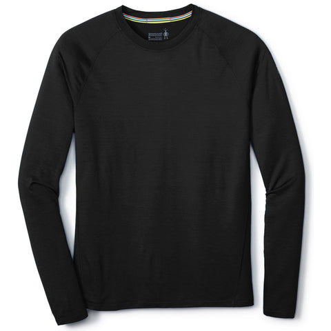 Men's Merino 150 Base Layer Long Sleeve-Smartwool-Black-S-Uncle Dan's, Rock/Creek, and Gearhead Outfitters