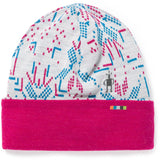 kids-merino-250-reversible-pattern-cuffed-beanie-sw018019_winter_white_digital_snowflake
