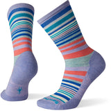 Women's Jovian Stripe Socks-Smartwool-Purple Mist-S-Uncle Dan's, Rock/Creek, and Gearhead Outfitters